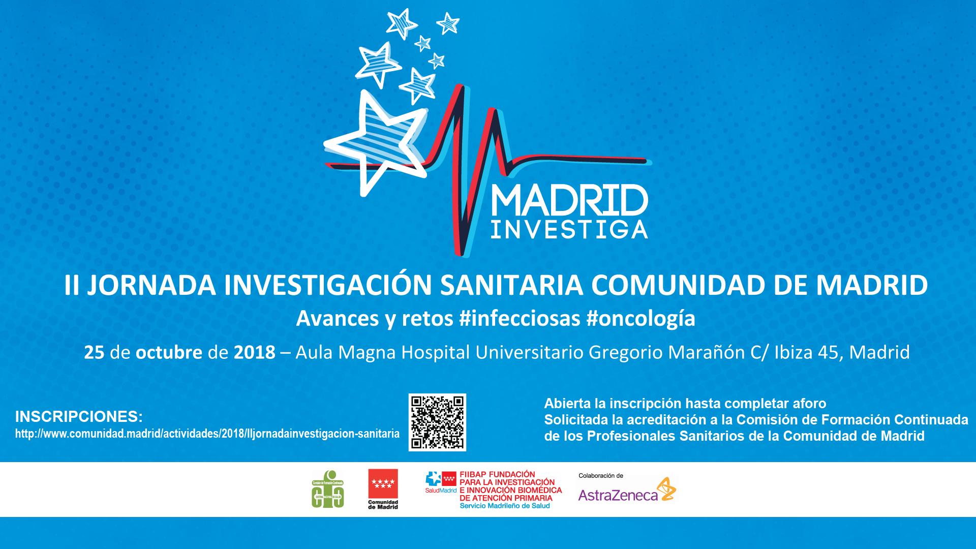 Celebración de la II Jornada de Investigación Sanitaria de la Comunidad de Madrid