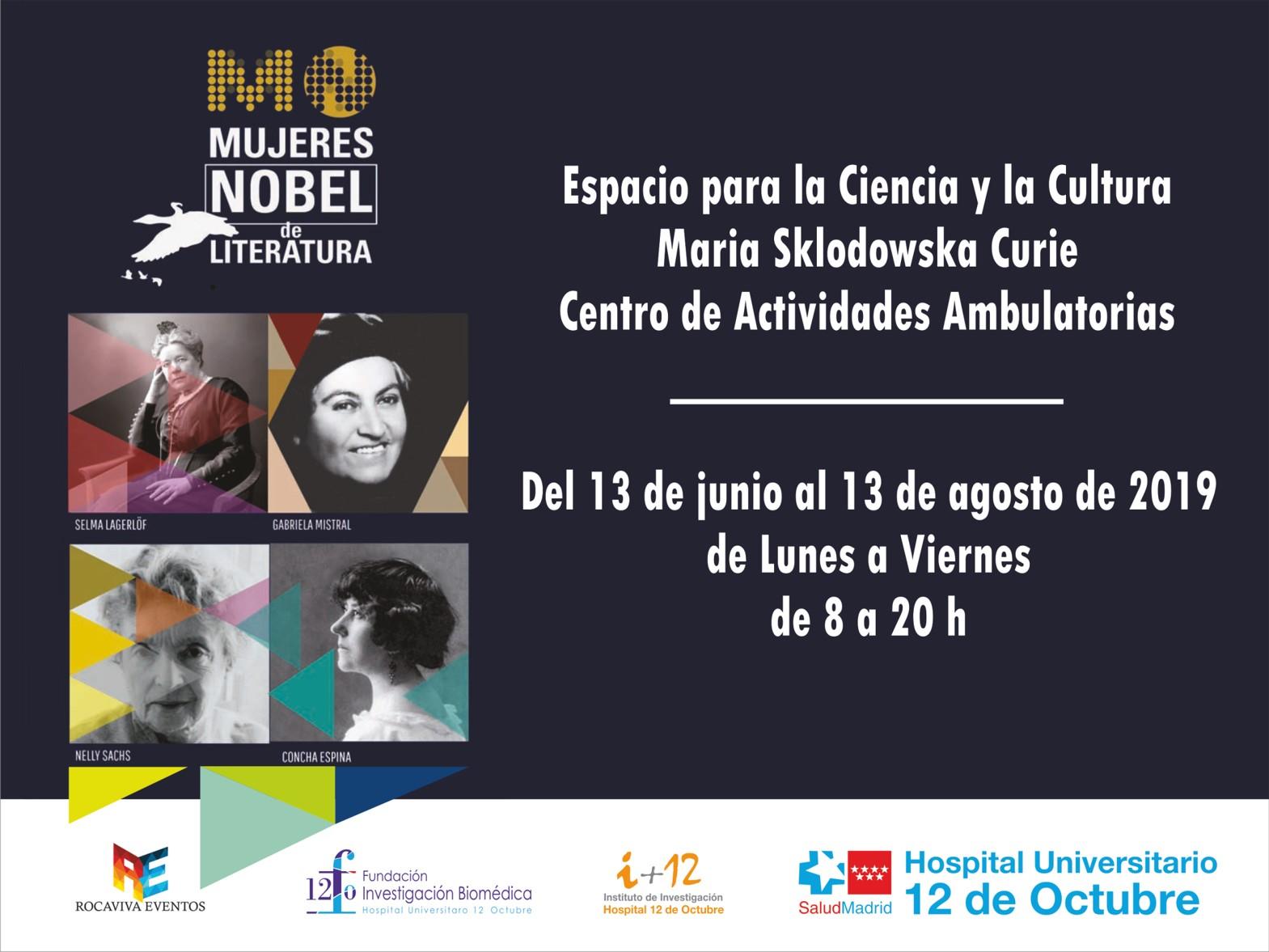 Mujeres Nobel de la Literatura visitan el Hospital 12 de Octubre.