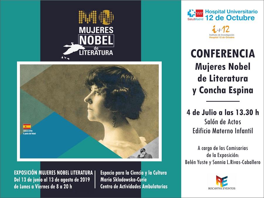 """Conferencia """"Mujeres Nobel de Literatura y Concha Espina""""."""