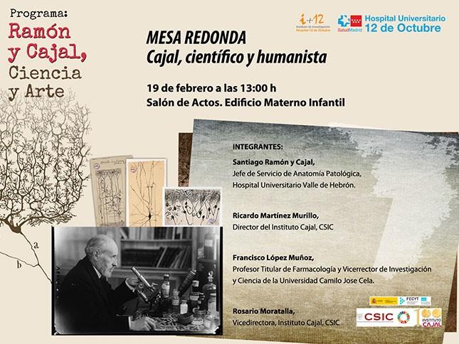 """Mesa redonda """"Cajal, científico y humanista""""."""